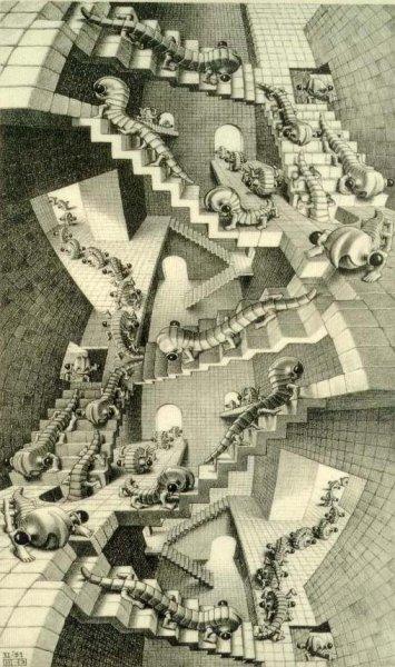 Une maison d'escaliers
