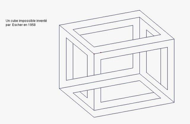 Le cube d'Escher